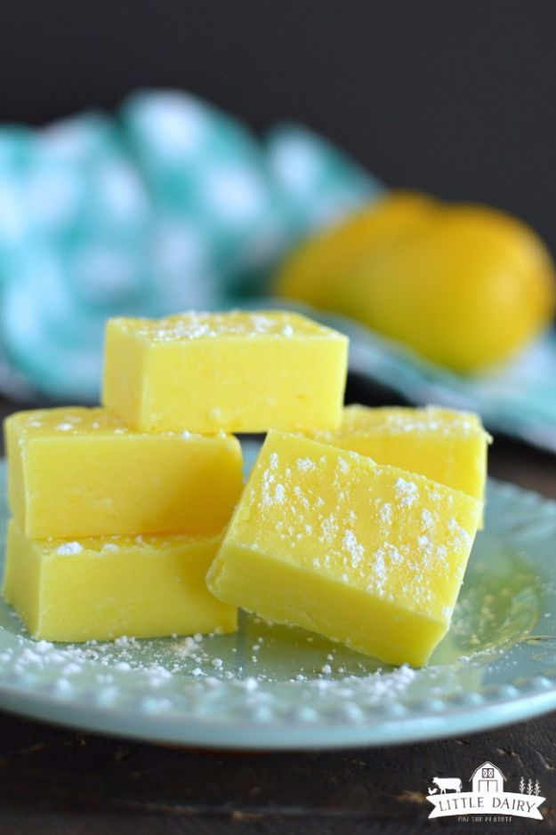Easy Snacks You Can Make In Minutes - Lemon Fudge - Quick Recipes and Tricks for Making After Workout and After School Snack - Fast Ideas for Instant Small Meals and Treats - No Bake, Microwave and Simple Prep Makes Snacking Fun http://diyjoy.com/easy-snacks-recipes