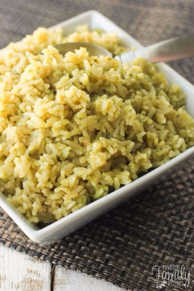 Best Rice Recipes - Lemon Pesto Rice - Easy Ideas for Quick Meals Made From a Bag of Rice - Healthy Recipes With Brown, White and Arborio Rice - Cheesy, Fried, Asian, Mexican Flavored Dinner Dishes and Side Dishes - DIY Projects and Crafts by DIY JOY