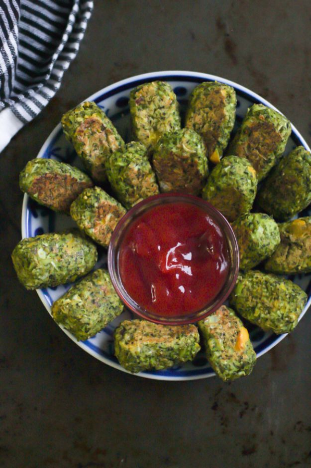 Best Broccoli Recipes - Low-Carb Broccoli Tots - Recipe Ideas for Roasted, Steamed, Fresh or Frozen, Healthy, Cheesy, Soup, Salad, Casseroles and Side Dish Vegetables Made With Broccoli. Shrimp, Chicken, Pasta and Paleo Recipes. Easy Dinner, Lunch and Healthy Snacks for Kids and Adults - Homemade Food and Crafts by DIY JOY http://diyjoy.com/best-broccoli-recipes