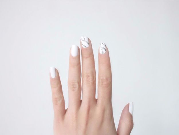 Quick Nail Art Ideas - Marble Manicure - Easy Step by Step Nail Designs With Tutorials and Instructions - Simple Photos Show You How To Get A Perfect Manicure at Home - Cool Beauty Tips and Tricks for Women and Teens