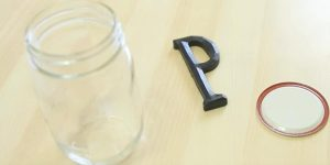She Cleverly Glues Her Initial To The Lid Of A Mason Jar And Watch She Does Next Is So Cool!