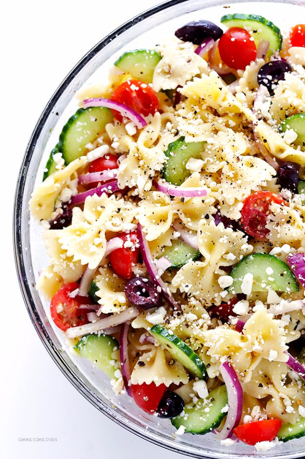 Best Dinner Salad Recipes - Mediterranean Pasta Salad - Easy Salads to Make for Quick and Healthy Dinners - Healthy Chicken, Egg, Vegetarian, Steak and Shrimp Salad Ideas - Summer Side Dishes, Hearty Filling Meals, and Low Carb Options http://diyjoy.com/dinner-salad-recipes