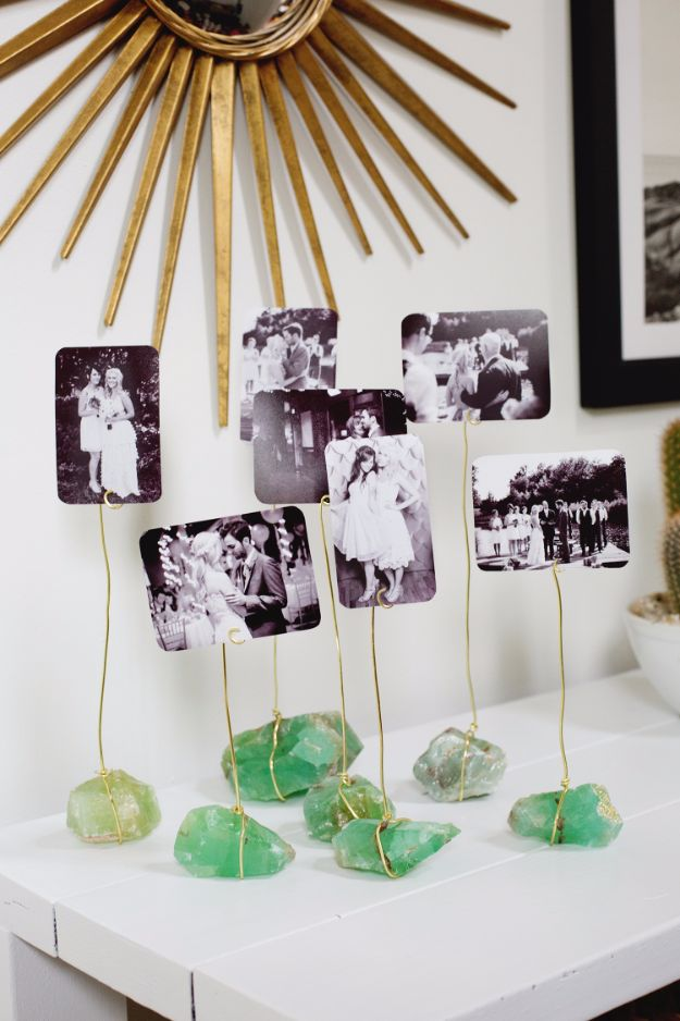 Tips and Tricks for Hanging Photos and Frames - Mineral Photo Display - Step By Step Tutorials and Easy DIY Home Decor Projects for Decorating Walls - Cool Wall Art Ideas for Bedroom, Living Room, Gallery Walls - Creative and Cheap Ideas for Displaying Photos and Prints - DIY Projects and Crafts by DIY JOY #diydecor #decoratingideas