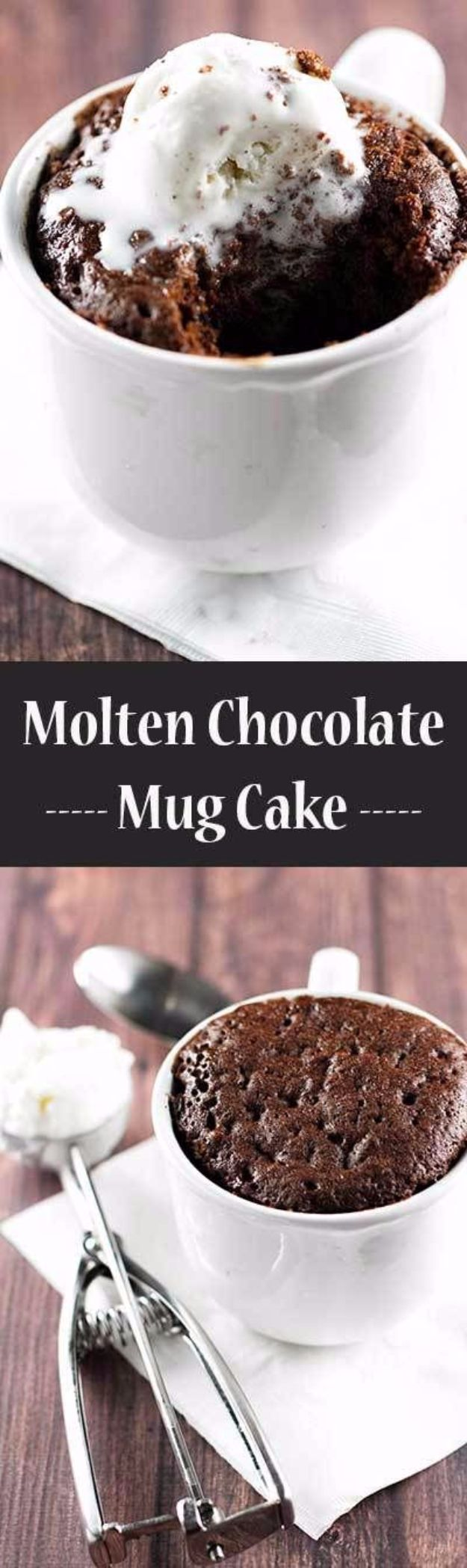 Easy Snacks You Can Make In Minutes - Molten Chocolate Mug Cake - Quick Recipes and Tricks for Making After Workout and After School Snack - Fast Ideas for Instant Small Meals and Treats - No Bake, Microwave and Simple Prep Makes Snacking Fun #snacks #recipes