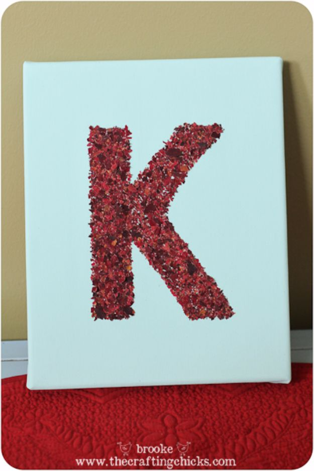 DIY Ideas With Rose Petals - Monograms and Framed Art Using Dried & Crushed Rose Petals - Crafts and DIY Projects, Recipes You Can Make With Rose Petals - Creative Home Decor and Gift Ideas Make Awesome Mothers Day and Christmas Gifts - Crafts and Do It Yourself by DIY JOY http://diyjoy.com/diy-ideas-rose-petals