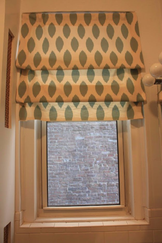 Cool DIY Ideas With Tension Rods - No Sew Faux Roman Shades - Quick Do It Yourself Projects, Easy Ways To Save Money, Hacks You Can Do With A Tension Rod - Window Treatments, Small Spaces, Apartments, Storage