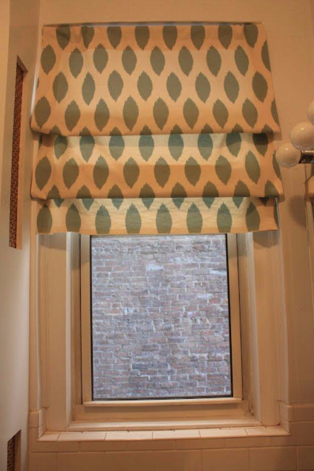 Small Bathroom Window Treatments No Sew