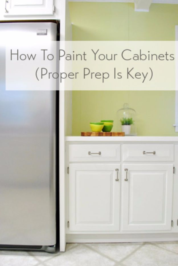 DIY Home Improvement On A Budget - Paint Your Cabinets - Easy and Cheap Do It Yourself Tutorials for Updating and Renovating Your House - Home Decor Tips and Tricks, Remodeling and Decorating Hacks - DIY Projects and Crafts by DIY JOY http://diyjoy.com/diy-home-improvement-ideas-budget