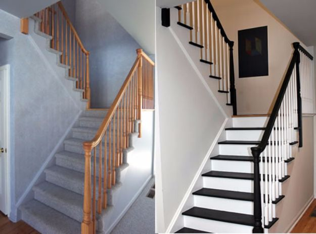 DIY Home Improvement On A Budget - Paint Your Stairs - Easy and Cheap Do It Yourself Tutorials for Updating and Renovating Your House - Home Decor Tips and Tricks, Remodeling and Decorating Hacks - DIY Projects and Crafts by DIY JOY #diy