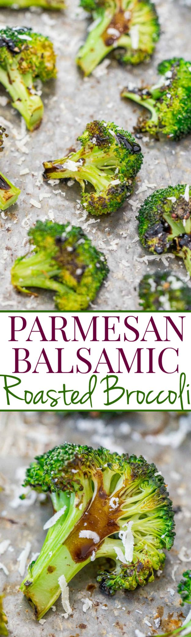 Best Broccoli Recipes - Parmesan Balsamic Roasted Broccoli - Recipe Ideas for Roasted, Steamed, Fresh or Frozen, Healthy, Cheesy, Soup, Salad, Casseroles and Side Dish Vegetables Made With Broccoli. Shrimp, Chicken, Pasta and Paleo Recipes. Easy Dinner, healthy vegetable recipes