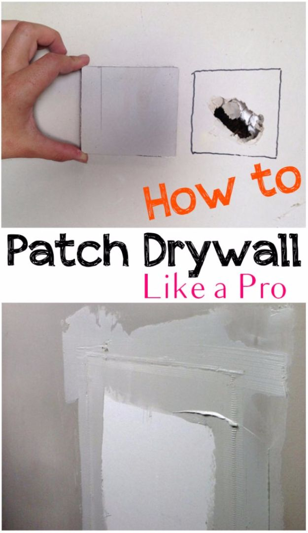 DIY Home Improvement On A Budget - Patch Drywall Like A Pro - Easy and Cheap Do It Yourself Tutorials for Updating and Renovating Your House - Home Decor Tips and Tricks, Remodeling and Decorating Hacks - DIY Projects and Crafts by DIY JOY #diy