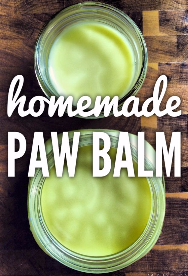 DIY Dog Grooming Tutorials - Paw Balm - Cool and Easy Ways to Wash, Groom and Style Your Pets Fur - Trim Toenails, Brush Teeth, Bath, Trim and Clip Dogs Fur - Hair - Remove Fleas and Anti Itch - Save Money At The Groomer By Learning How To Do These Things At Home http://diyjoy.com/diy-dog-grooming