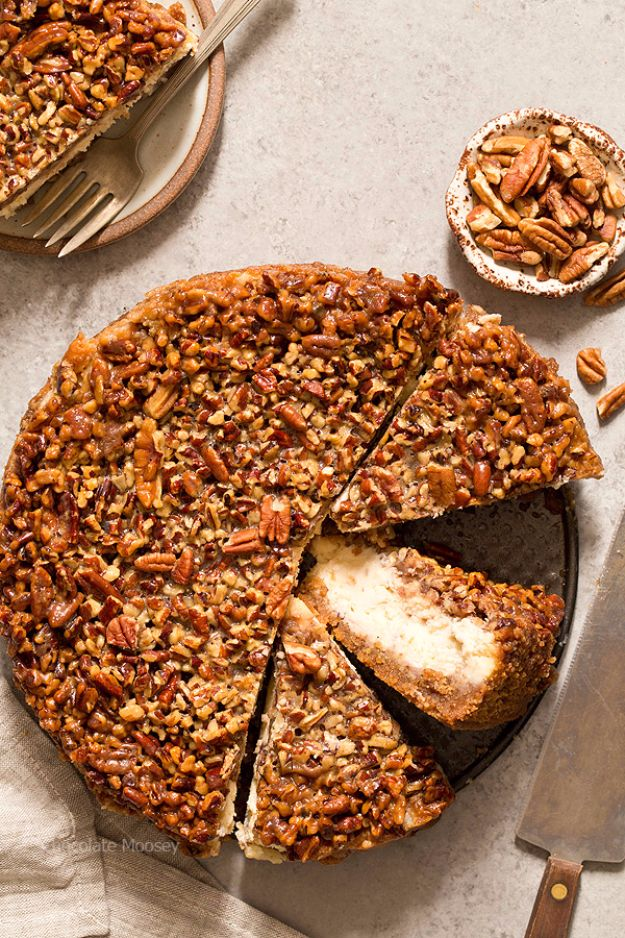 Best Cheesecake Recipes - Pecan Pie Cheesecake - Easy and Quick Recipe Ideas for Cheesecakes and Desserts - Chocolate, Simple Plain Classic, New York, Mini, Oreo, Lemon, Raspberry and Quick No Bake - Step by Step Instructions and Tutorials for Yummy Dessert - DIY Projects and Crafts by DIY JOY http://diyjoy.com/best-cheesecake-recipes