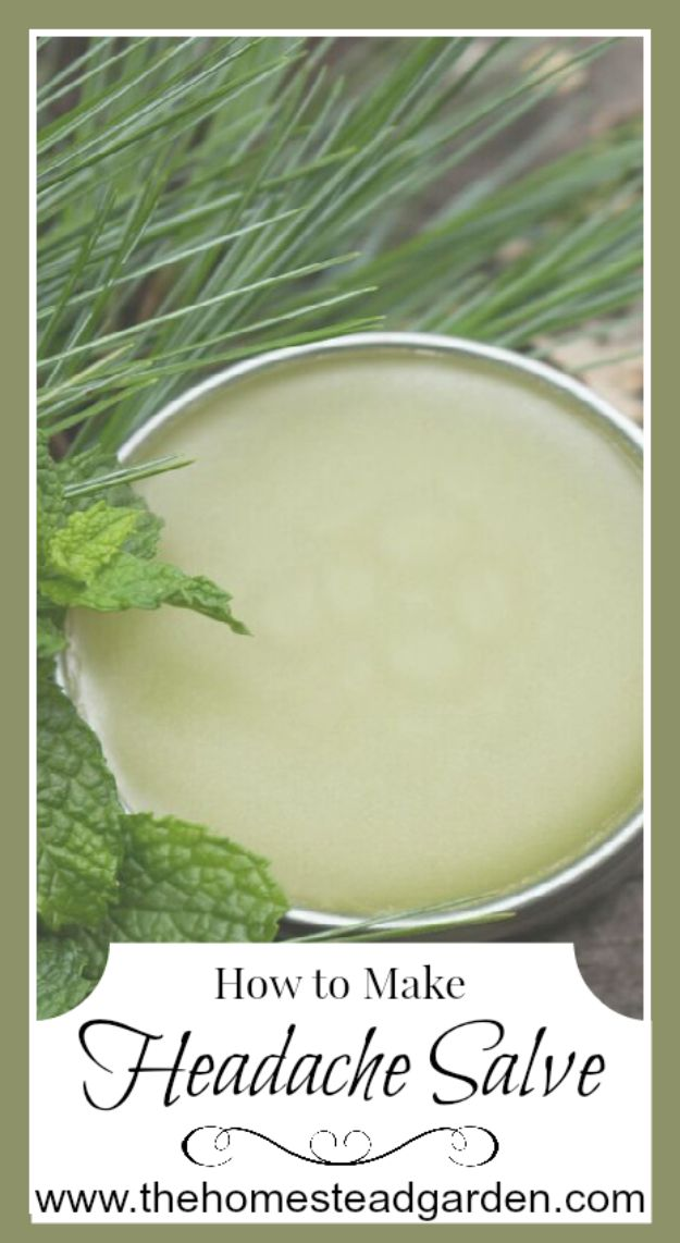 DIY Ideas with Dried Herbs - Peppermint Pine Headache Salve - Creative Home Decor With Easy Step by Step Tutorials for Making Herb Crafts, Projects and Recipes - Cool DIY Gift Ideas and Cheap Homemade Gifts - DIY Projects and Crafts by DIY JOY #diy #herbs #gifts