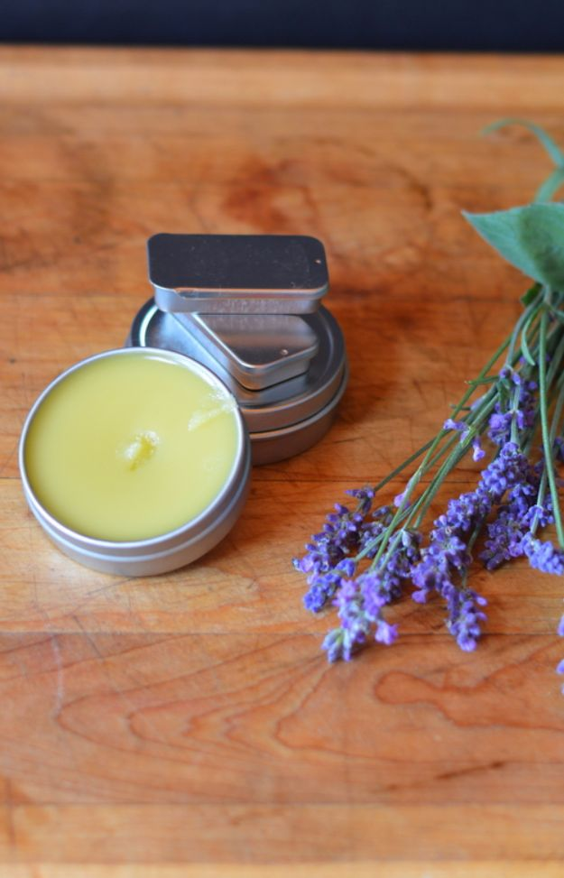 DIY Lavender Recipes and Project Ideas - Peppermint and Lavender Headache Salve - Food, Beauty, Baking Tutorials, Desserts and Drinks Made With Fresh and Dried Lavender - Savory Lavender Recipe Ideas, Healthy and Vegan - DIY Projects and Crafts by DIY JOY http://diyjoy.com/diy-projects-lavender-herbs