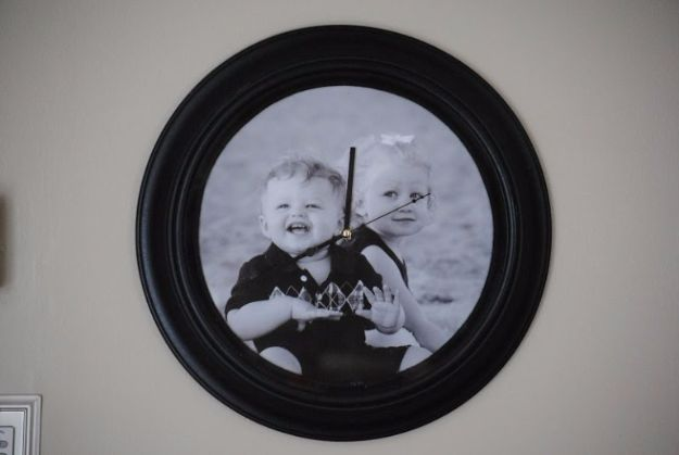 DIY Mothers Day Gift Ideas - Photo Backed Clock - Homemade Gifts for Moms - Crafts and Do It Yourself Home Decor, Accessories and Fashion To Make For Mom - Mothers Love Handmade Presents on Mother's Day - DIY Projects and Crafts by DIY JOY http://diyjoy.com/diy-mothers-day-gifts