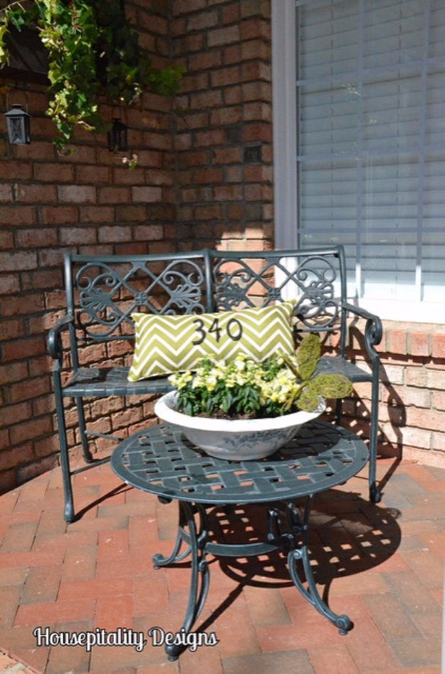 DIY House Numbers - Pillow House Number - DIY Numbers To Put In Front Yard and At Front Door - Architectural Numbers and Creative Do It Yourself Projects for Making House Numbers - Easy Step by Step Tutorials and Project Ideas for Home Improvement on A Budget #homeimprovement #diyhomedecor