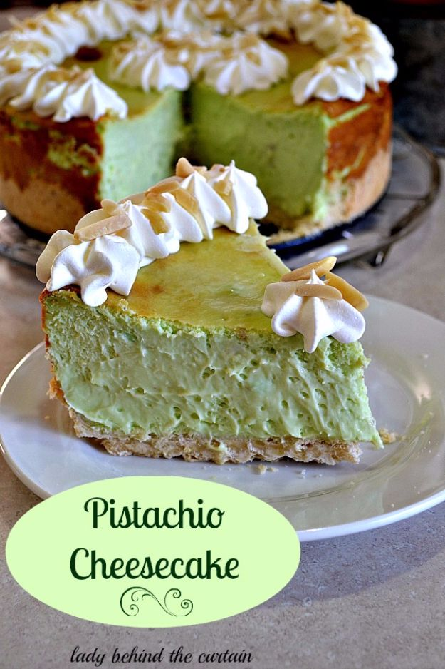 Best Cheesecake Recipes - Pistachio Cheesecake - Easy and Quick Recipe Ideas for Cheesecakes and Desserts - Chocolate, Simple Plain Classic, New York, Mini, Oreo, Lemon, Raspberry and Quick No Bake - Step by Step Instructions and Tutorials for Yummy Dessert