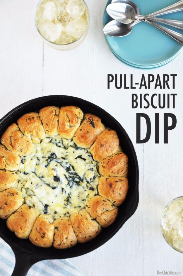 Best Canned Biscuit Recipes - Pull Apart Biscuit Dip - Cool DIY Recipe Ideas You Can Make With A Can of Biscuits - Easy Breakfast, Lunch, Dinner and Desserts You Can Make From Pillsbury Pull Apart Biscuits - Garlic, Sour Cream, Ground Beef, Sweet and Savory, Ideas with Cheese - Delicious Meals on A Budget With Step by Step Tutorials http://diyjoy.com/best-recipes-canned-biscuits