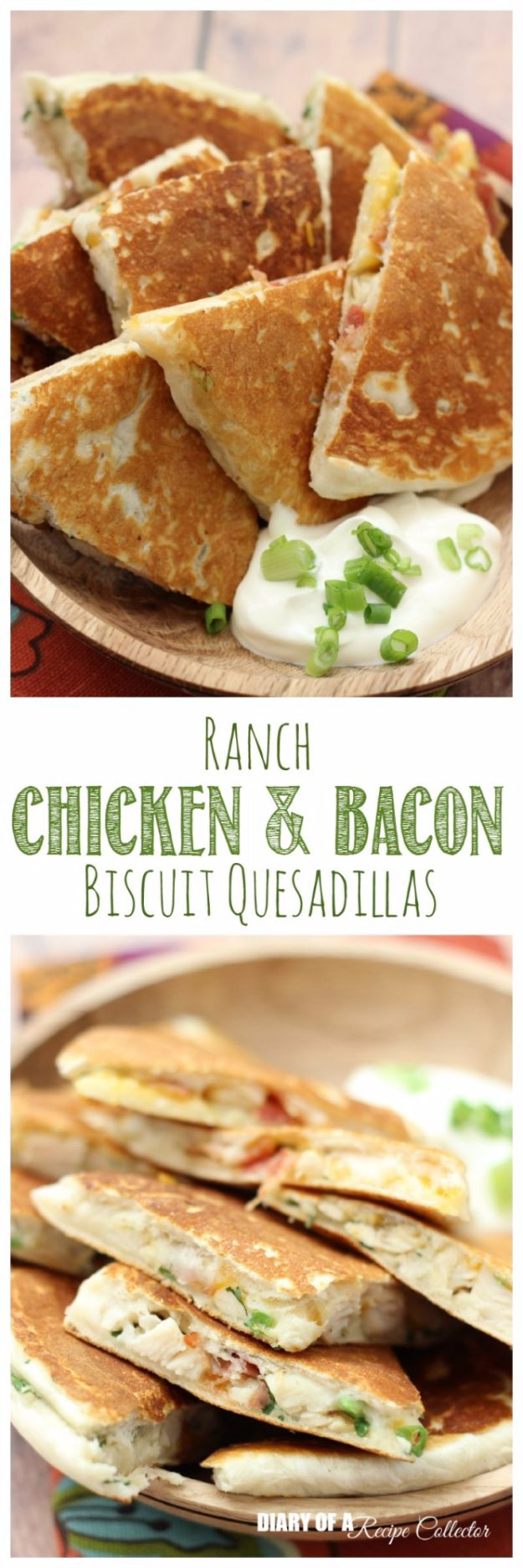 Best Canned Biscuit Recipes - Ranch Chicken & Bacon Biscuit Quesadillas - Cool DIY Recipe Ideas You Can Make With A Can of Biscuits - Easy Breakfast, Lunch, Dinner and Desserts You Can Make From Pillsbury Pull Apart Biscuits - Garlic, Sour Cream, Ground Beef, Sweet and Savory, Ideas with Cheese - Delicious Meals on A Budget With Step by Step Tutorials http://diyjoy.com/best-recipes-canned-biscuits
