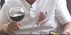 He Spills Red Wine On His Shirt And Removes It With This Easy Solution (Watch!)