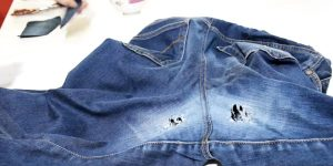 She Wore Holes In The Crotch Of Her Favorite Jeans But Does Something Brilliant To Fix Them (Watch!)