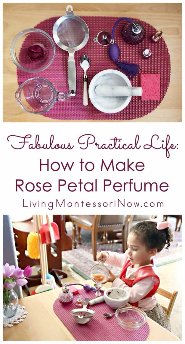DIY Ideas With Rose Petals - Rose Petal Perfume - Crafts and DIY Projects, Recipes You Can Make With Rose Petals - Creative Home Decor and Gift Ideas Make Awesome Mothers Day and Christmas Gifts - Crafts and Do It Yourself by DIY JOY #rosecrafts #diygifts
