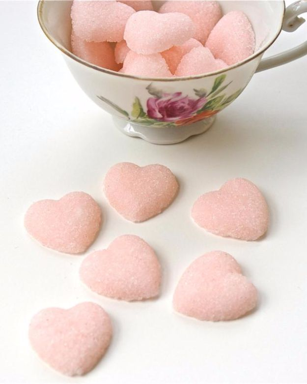 DIY Ideas With Rose Petals - Rose-Scented Sweets - Crafts and DIY Projects, Recipes You Can Make With Rose Petals - Creative Home Decor and Gift Ideas Make Awesome Mothers Day and Christmas Gifts - Crafts and Do It Yourself by DIY JOY #rosecrafts #diygifts
