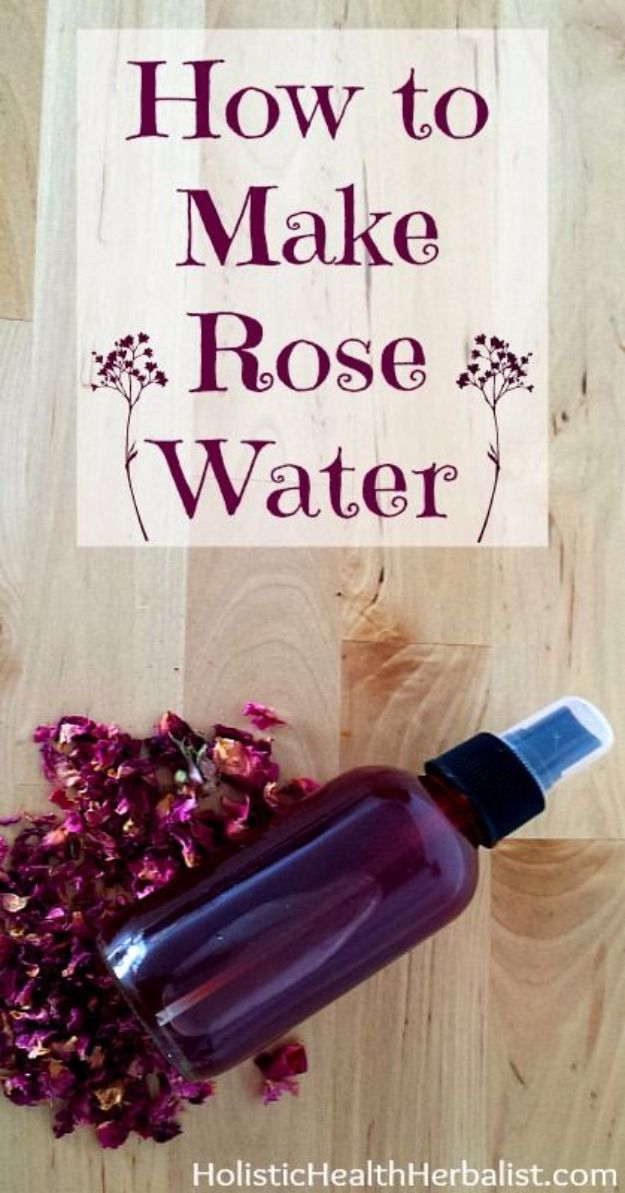 DIY Ideas With Rose Petals - Rose Water - Crafts and DIY Projects, Recipes You Can Make With Rose Petals - Creative Home Decor and Gift Ideas Make Awesome Mothers Day and Christmas Gifts - Crafts and Do It Yourself by DIY JOY #rosecrafts #diygifts