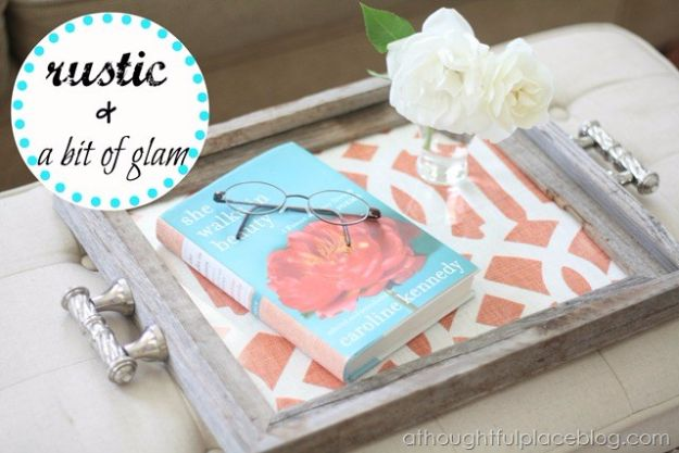 DIY Mothers Day Gift Ideas - Rustic Chic Tray - Homemade Gifts for Moms - Crafts and Do It Yourself Home Decor, Accessories and Fashion To Make For Mom - Mothers Love Handmade Presents on Mother's Day - DIY Projects and Crafts by DIY JOY