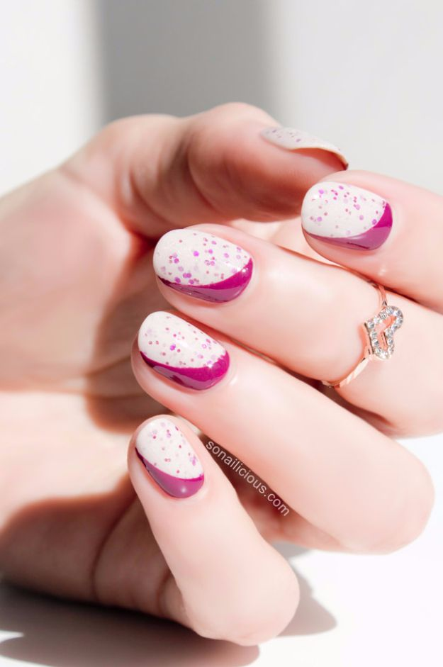 Quick Nail Art Ideas - Sideways Ruffian Nails - Easy Step by Step Nail Designs With Tutorials and Instructions - Simple Photos Show You How To Get A Perfect Manicure at Home - Cool Beauty Tips and Tricks for Women and Teens