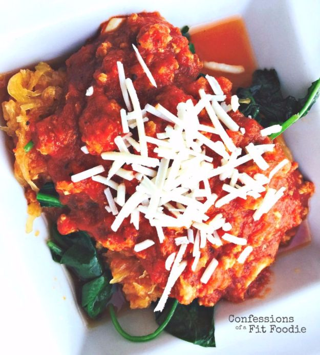 Healthy Crockpot Recipes to Make and Freeze Ahead - Simple Crock Pot Spaghetti Squash With Meat Sauce - Easy and Quick Dinners, Soups, Sides You Make Put In The Freezer for Simple Last Minute Cooking - Low Fat Chicken, beef stew recipe