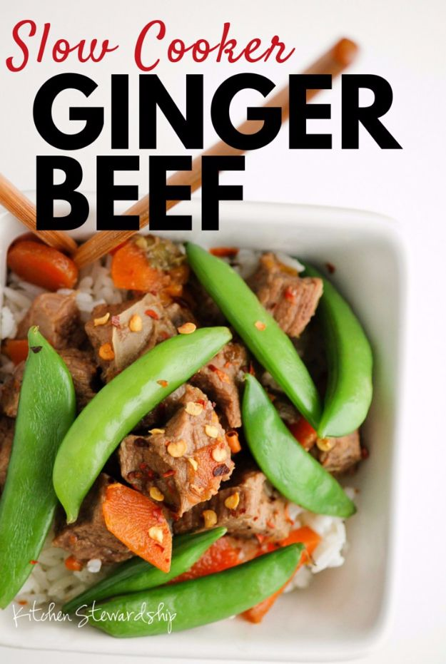 Healthy Crockpot Recipes to Make and Freeze Ahead - Slow Cooker Ginger Beef - Easy and Quick Dinners, Soups, Sides You Make Put In The Freezer for Simple Last Minute Cooking - Low Fat Chicken, Veggies, Stews, Vegetable Sides and Beef Meals for Your Slow Cooker and Crock Pot http://diyjoy.com/healthy-crockpot-recipes