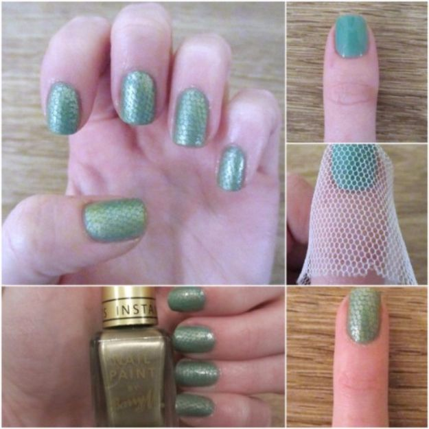 Quick Nail Art Ideas - Snake Skin Nail Art - Easy Step by Step Nail Designs With Tutorials and Instructions - Simple Photos Show You How To Get A Perfect Manicure at Home - Cool Beauty Tips and Tricks for Women and Teens