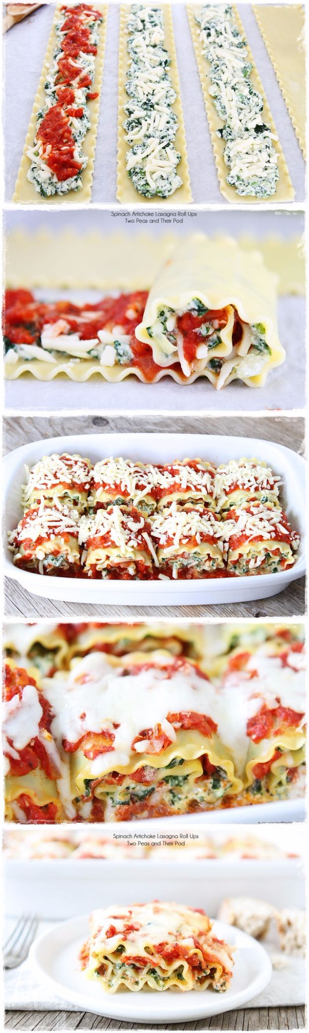 Best Easter Dinner Recipes - Spinach Artichoke Lasagna Roll Ups - Easy Recipe Ideas for Easter Dinners and Holiday Meals for Families - Side Dishes, Slow Cooker Recipe Tutorials, Main Courses, Traditional Meat, Vegetable and Dessert Ideas - Desserts, Pies, Cakes, Ham and Beef, Lamb - DIY Projects and Crafts by DIY JOY