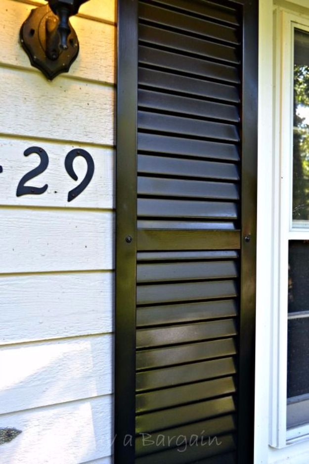 Spray Painting Tips and Tricks - Spray Painting Shutters - Home Improvement Ideas and Tutorials for Spray Painting Furniture, House, Doors, Trim, Windows and Walls - Step by Step Tutorials and Best How To Instructions - DIY Projects and Crafts by DIY JOY #diyideas