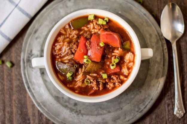 Healthy Crockpot Recipes to Make and Freeze Ahead - Stuffed Pepper Soup - Easy and Quick Dinners, Soups, Sides You Make Put In The Freezer for Simple Last Minute Cooking - Low Fat Chicken, beef stew recipe