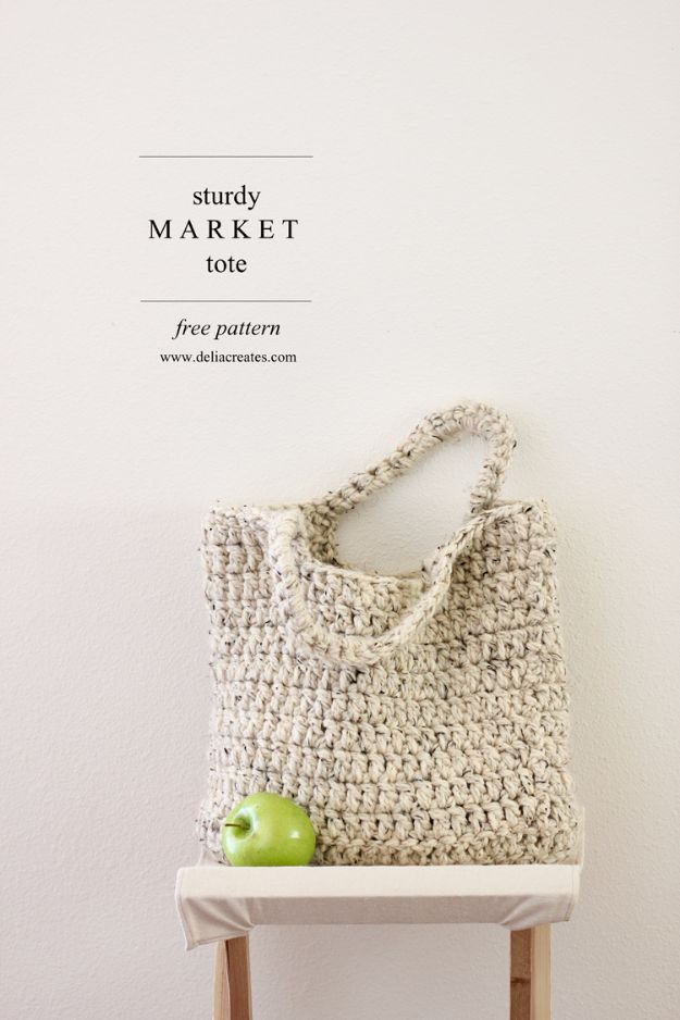 DIY Mothers Day Gift Ideas - Sturdy Market Tote - Homemade Gifts for Moms - Crafts and Do It Yourself Home Decor, Accessories and Fashion To Make For Mom - Mothers Love Handmade Presents on Mother's Day - DIY Projects and Crafts by DIY JOY