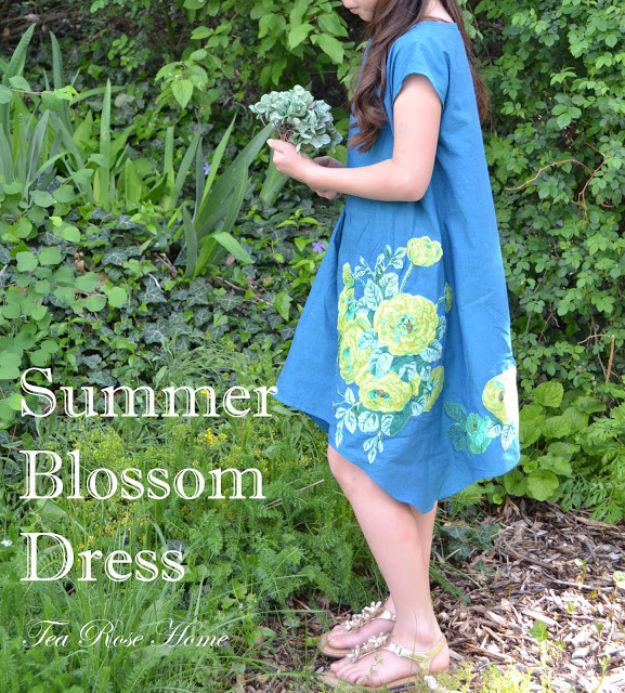 DIY Dresses to Sew for Summer - Summer Blossom Dress - Best Free Patterns For Dress Ideas - Easy and Cheap Clothes to Make for Women and Teens - Step by Step Sewing Projects - Short, Summer, Winter, Fall, Inexpensive DIY Fashion