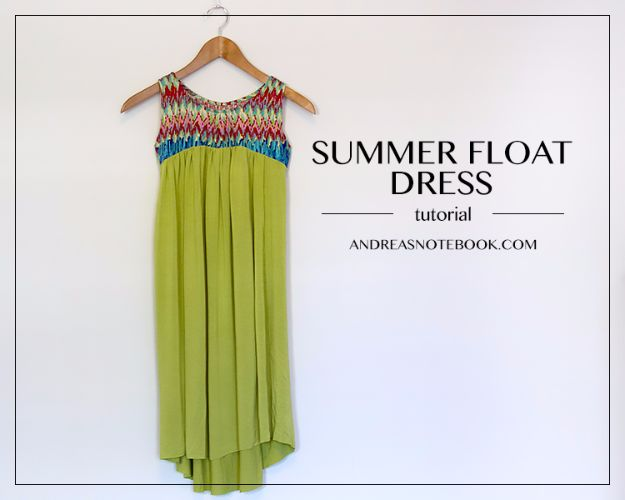 DIY Dresses to Sew for Summer - Summer Float Dress - Best Free Patterns For Dress Ideas - Easy and Cheap Clothes to Make for Women and Teens - Step by Step Sewing Projects - Short, Summer, Winter, Fall, Inexpensive DIY Fashion