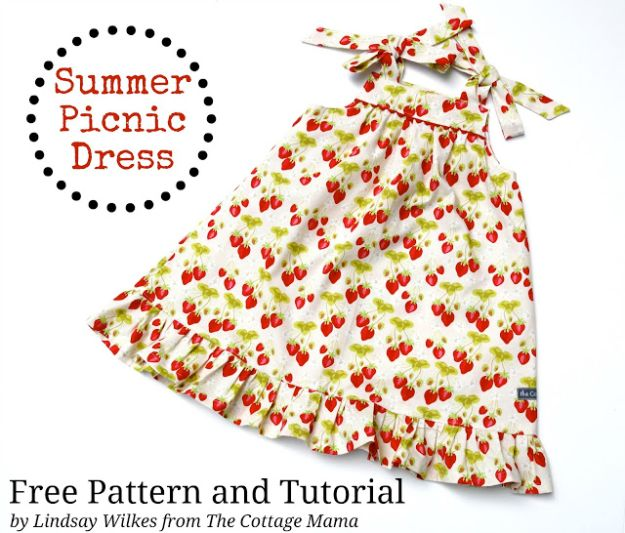 DIY Dresses to Sew for Summer - Summer Picnic Dress - Best Free Patterns For Dress Ideas - Easy and Cheap Clothes to Make for Women and Teens - Step by Step Sewing Projects - Short, Summer, Winter, Fall, Inexpensive DIY Fashion