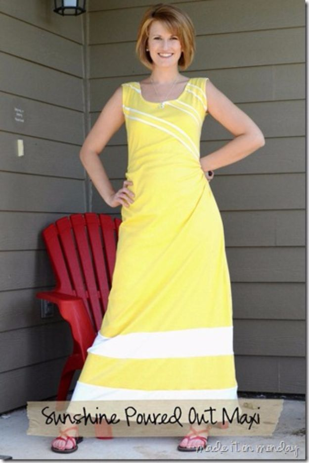 DIY Dresses to Sew for Summer - Sunshine Poured Out Maxi - Best Free Patterns For Dress Ideas - Easy and Cheap Clothes to Make for Women and Teens - Step by Step Sewing Projects - Short, Summer, Winter, Fall, Inexpensive DIY Fashion