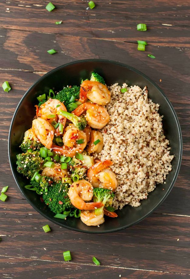 Best Broccoli Recipes - Szechuan Shrimp And Broccoli - Recipe Ideas for Roasted, Steamed, Fresh or Frozen, Healthy, Cheesy, Soup, Salad, Casseroles and Side Dish Vegetables Made With Broccoli. Shrimp, Chicken, Pasta and Paleo Recipes. Easy Dinner, healthy vegetable recipes