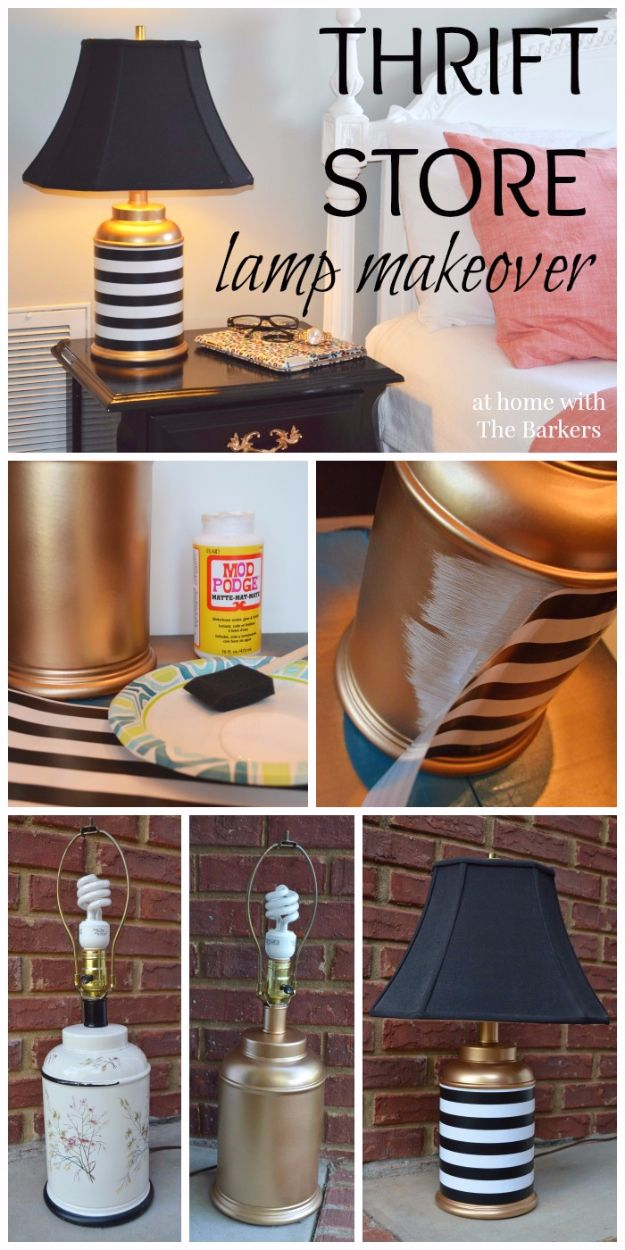 Spray Painting Tips and Tricks - Thrift store Lamp Makeover - Home Improvement Ideas and Tutorials for Spray Painting Furniture, House, Doors, Trim, Windows and Walls - Step by Step Tutorials and Best How To Instructions - DIY Projects and Crafts by DIY JOY #diyideas