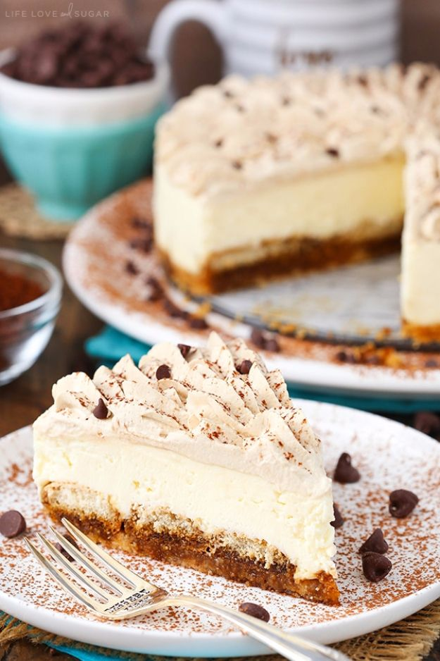Best Cheesecake Recipes - Tiramisu Cheesecake - Easy and Quick Recipe Ideas for Cheesecakes and Desserts - Chocolate, Simple Plain Classic, New York, Mini, Oreo, Lemon, Raspberry and Quick No Bake - Step by Step Instructions and Tutorials for Yummy Dessert - DIY Projects and Crafts by DIY JOY http://diyjoy.com/best-cheesecake-recipes