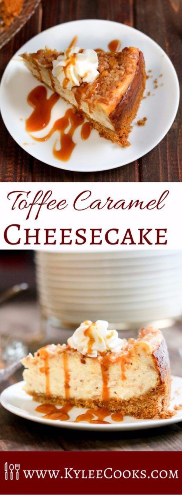 Best Cheesecake Recipes - Toffee Caramel Cheesecake - Easy and Quick Recipe Ideas for Cheesecakes and Desserts - Chocolate, Simple Plain Classic, New York, Mini, Oreo, Lemon, Raspberry and Quick No Bake - Step by Step Instructions and Tutorials for Yummy Dessert