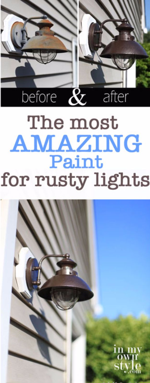 DIY Home Improvement On A Budget - Transform Outdoor Light Fixtures - Easy and Cheap Do It Yourself Tutorials for Updating and Renovating Your House - Home Decor Tips and Tricks, Remodeling and Decorating Hacks - DIY Projects and Crafts by DIY JOY #diy