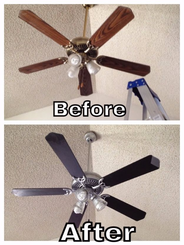 DIY Home Improvement On A Budget - Update Your Ceiling Fan - Easy and Cheap Do It Yourself Tutorials for Updating and Renovating Your House - Home Decor Tips and Tricks, Remodeling and Decorating Hacks - DIY Projects and Crafts by DIY JOY #diy