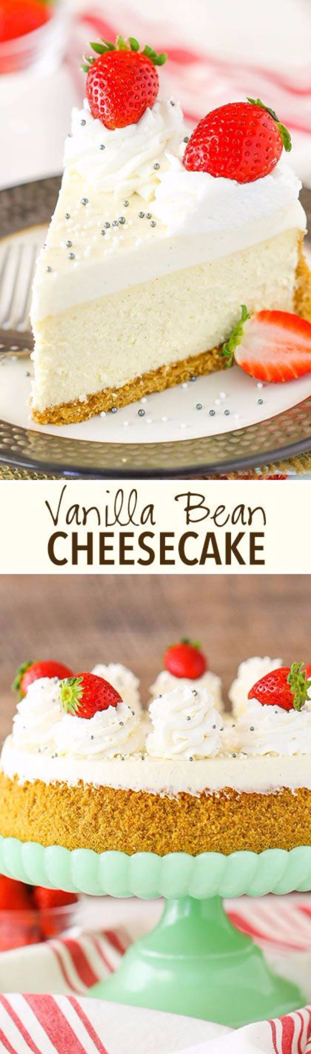 Best Cheesecake Recipes - Vanilla Bean Cheesecake - Easy and Quick Recipe Ideas for Cheesecakes and Desserts - Chocolate, Simple Plain Classic, New York, Mini, Oreo, Lemon, Raspberry and Quick No Bake - Step by Step Instructions and Tutorials for Yummy Dessert