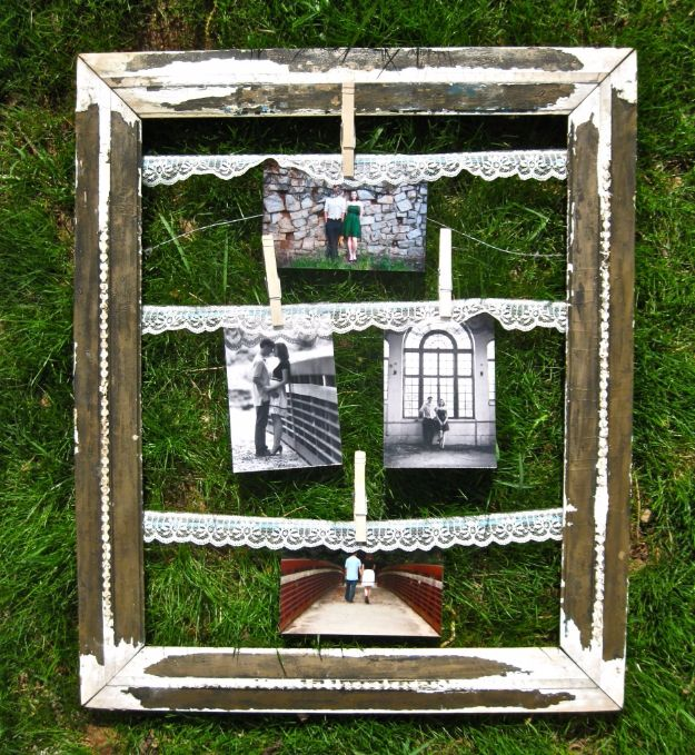 Tips and Tricks for Hanging Photos and Frames - Vintage Clothes Pin Frame - Step By Step Tutorials and Easy DIY Home Decor Projects for Decorating Walls - Cool Wall Art Ideas for Bedroom, Living Room, Gallery Walls - Creative and Cheap Ideas for Displaying Photos and Prints - DIY Projects and Crafts by DIY JOY #diydecor #decoratingideas